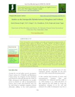 Studies on the interspecific hybrids between mungbean and Urdbean