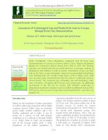 Assessment of technological gap and productivity gain in cowpea through front line demonstrations
