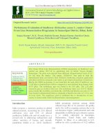 Performance evaluation of sunflower (Helianthus annus L.) under cluster front line demonstration programme in Samastipur district, Bihar, India