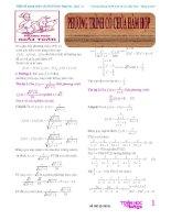 Phương trình có chứa hàm hợp