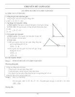 Phương pháp giải các dạng toán chuyên đề tam giác