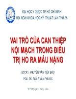 VAI TRO CAN THIEP NOI MACH TRONG DIEU TRI HO RA MAU NANG
