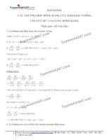 Toán lớp 8: 9  các trường hợp đồng dạng của tam giác vuông