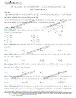 Toán lớp 8: 8  thi online   ôn tập chương tam giác đồng dạng
