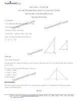 Toán lớp 8: 10  luyện tập các trường hợp đồng dạng của tam giác vuông