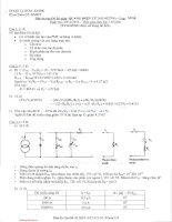 Đáp án đề thi môn Quang điện tử - Lớp VP10