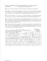 Đề kiểm tra giữa học kỳ môn Trường điện từ - Lớp BT13