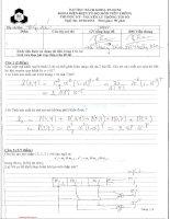 Đề thi học kỳ môn Nguyên lý thông tin số