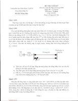 Đề thi cuối kỳ môn Quá độ điện từ trong hệ thống điện