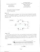 Đề thi cuối kỳ môn Thiết kế đường dây và trạm biến áp