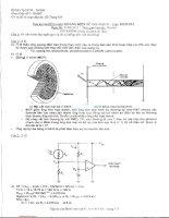 Đáp án đề thi môn Quang điện tử - Lớp DD11DV1