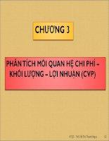 Bài giảng Kế toán quản trị: Chương 3 - ThS Hồ Thị Thanh Ngọc