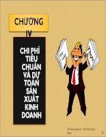 Bài giảng Kế toán quản trị: Chương 4 - ThS Hồ Thị Thanh Ngọc