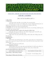 TRỌN BỘ Giáo án TNXH 1_ Kết nối tri thức với cuộc sống