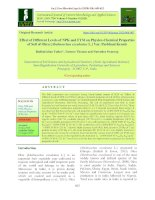 Effect of different levels of NPK and FYM on physico-chemical properties of soil of okra [Abelmoschus esculentus L.] Var. Parbhani Kranti