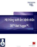 Hệ thống sưởi ấm bệnh nhân 3M™ Bair Hugger™.Tầm quan trọng của ổn định thân nhiệt