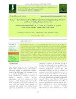 Semen characteristics of NARI suwarna rams during breeding (Winter) and non-breeding (summer) seasons