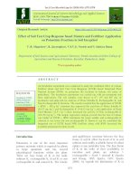 Effect of soil test crop response based manure and fertilizer application on potassium fractions in soil inceptisol