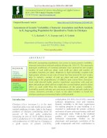 Assessment of genetic variability, character association and path analysis in F2 segregating population for quantitative traits in chickpea
