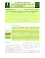 A study of vermicompost, cow dung and phosphate solubilizing bacteria on growth and yield of potato (Solanum tuberosum L)