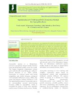 Optimization of CTAB-based RNA extraction method for aspergillus flavus