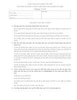 Đề thi kiểm tra chất lượng đào tạo nghiệp vụ bưu điện