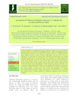 Assessment of Tuberose (Polianthes tuberosa L.) varieties for growth and flower yield