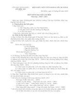Biên bản đại hội chi đội lớp 4a5