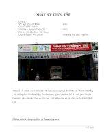 Nhật ký thực tập tốt nghiệp gara ô tô Khánh Hồng (Đà Nẵng)