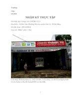 Nhật ký thực tập tốt nghiệp gara ô tô Thành Tú (Đà Nẵng)