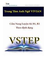CẨM NANG HƯỚNG dẫn làm bài THI VSTEP