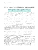bài tập đọc hiểu tiếng anh 9