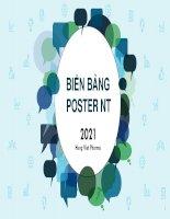 Kế hoạch Marketing 2021   QC biển bảng,poster NT đã chuyển đổi