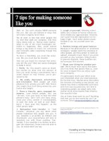 7 tips for making someone like you