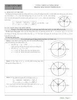 3  chuyên đề 3   vòng tròn lượng giác trong bài toán thời gian
