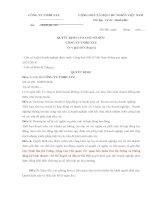 Quyết định của chủ sở hữu giải thể công ty TNHH