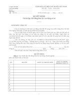 Quyết định thành lập hội đồng bảo hộ lao động cơ sở
