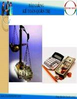 Bài giảng Kế toán và kế toán quản trị