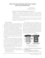 Phân tích các phương pháp ước lượng độ lún của nhóm cọc