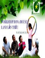 Bài giảng Quy tắc trong buổi Workshop Dona House Land