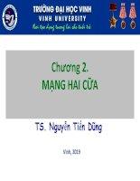 Bài giảng Cơ sở lý thuyết mạch điện - Chương 2: Mạng hai cửa