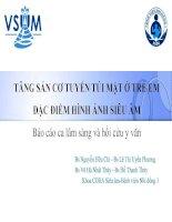 Bài giảng Tăng sản cơ tuyến túi mật ở trẻ em đặc điểm hình ảnh siêu âm: Báo cáo lâm sàng và hồi cứ y văn – BS. Nguyễn Hữu Chí