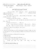 Mẫu Biên bản sinh hoạt chi bộ - Chi bộ Ngọ Thượng