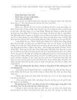 THAM LUẬN  NÂNG CAO HOẠT ĐỘNG TDTT CHI ĐOÀN