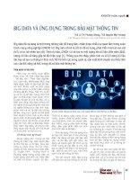Big data và ứng dụng trong bảo mật thông tin
