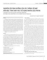Nghiên cứu ảnh hưởng của các thông số nạp đến đặc tính cháy HCCI sử dụng nhiên liệu PRF80