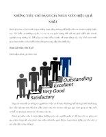 Những tiêu chí đánh giá nhân viên hiệu quả nhất
