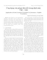 Ứng dụng văn phạm liên kết trong dịch máy Việt – Anh