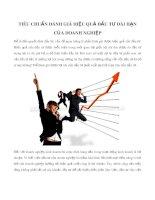 Tiêu chuẩn đánh giá hiệu quả đầu tư dài hạn của doanh nghiệp