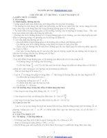 Lý 11 Từ Trường-Cảm ứng điện từ
